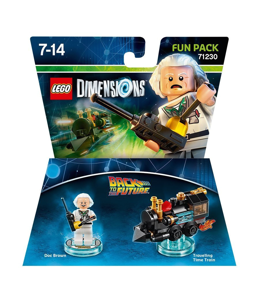 lego dimensions fun pack back to the future doc brown amazon co uk pc video games
