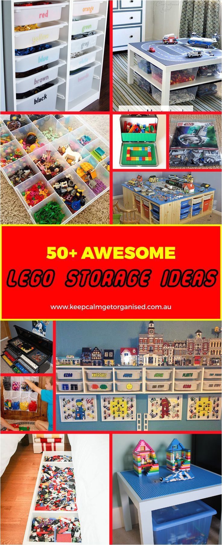 here s a major list of inspiration for lego storage ideas from over the closet shoe holders where bricks can be sorted by color or size to repurposed tool