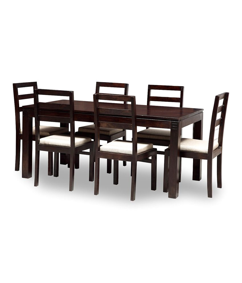 jaipur 6 seater dining set includes dining table plus 6 chairs with cushion