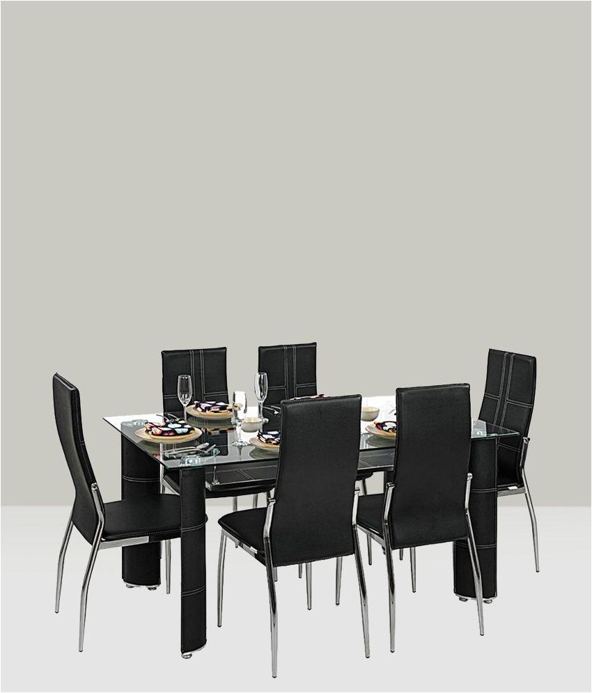 royaloak geneva dining set with 6 chairs modern