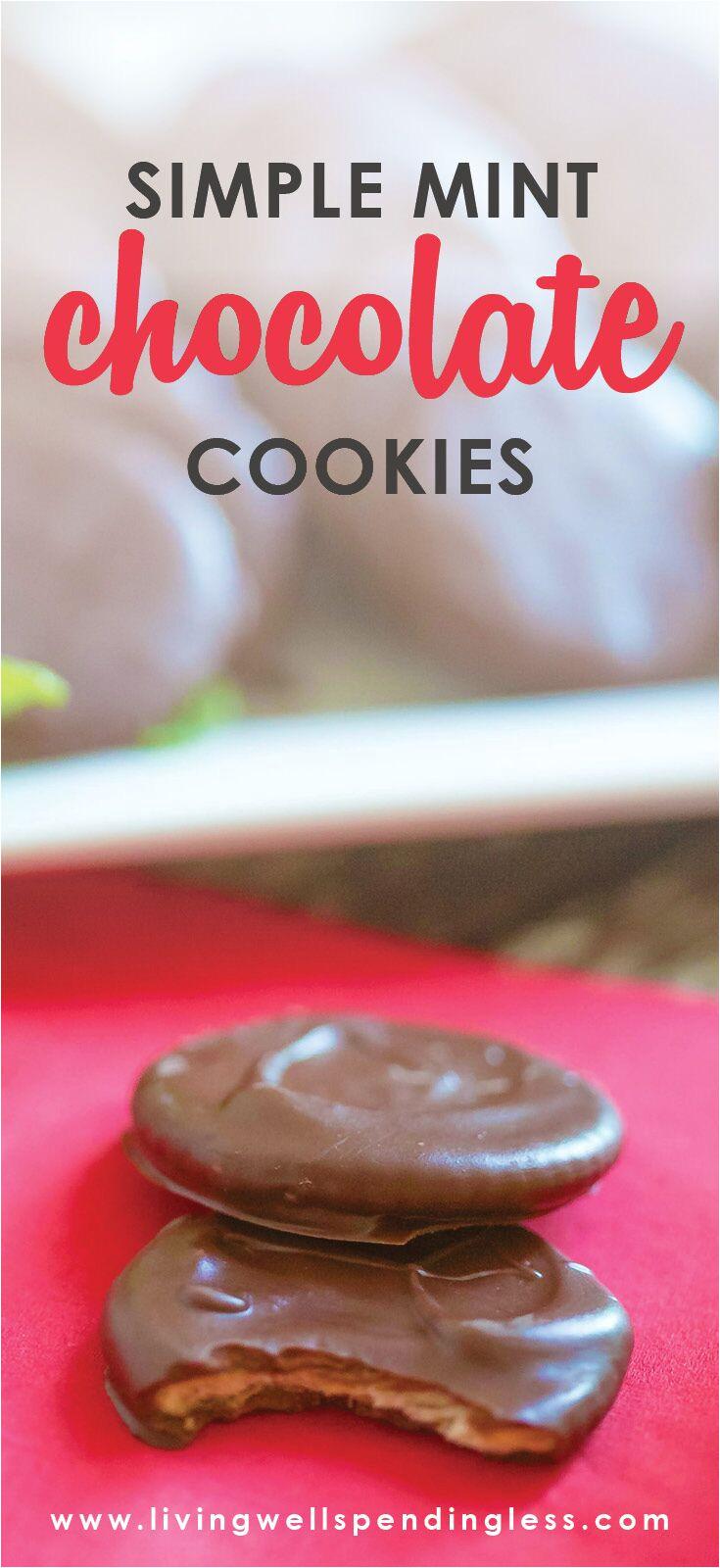 simple chocolate mint cookies 5 ingredients or less dessert food made simple