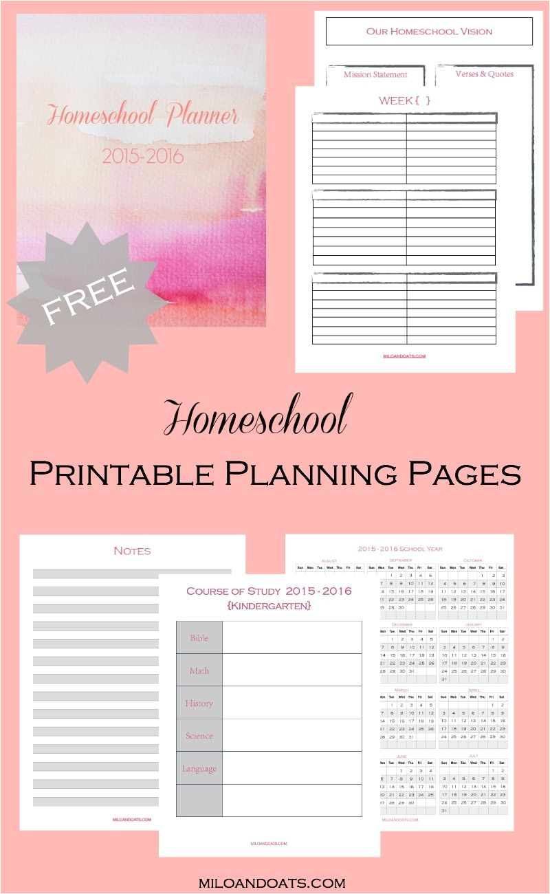 these free printable planning pages are the perfect thing to get your homeschool organized