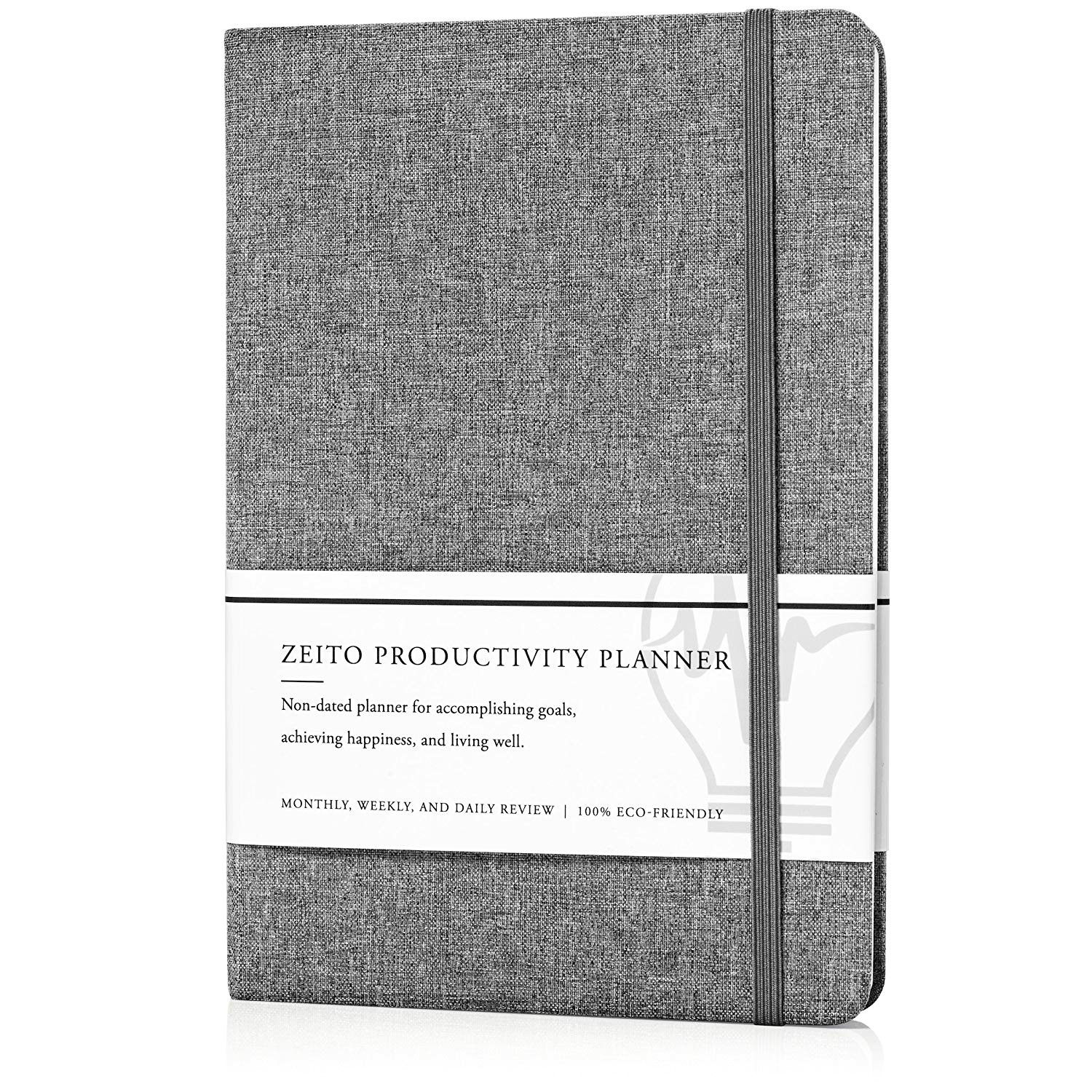 amazon com zeito productivity planner best undated monthly weekly and daily agenda planner for increasing motivation accomplishing goals and living