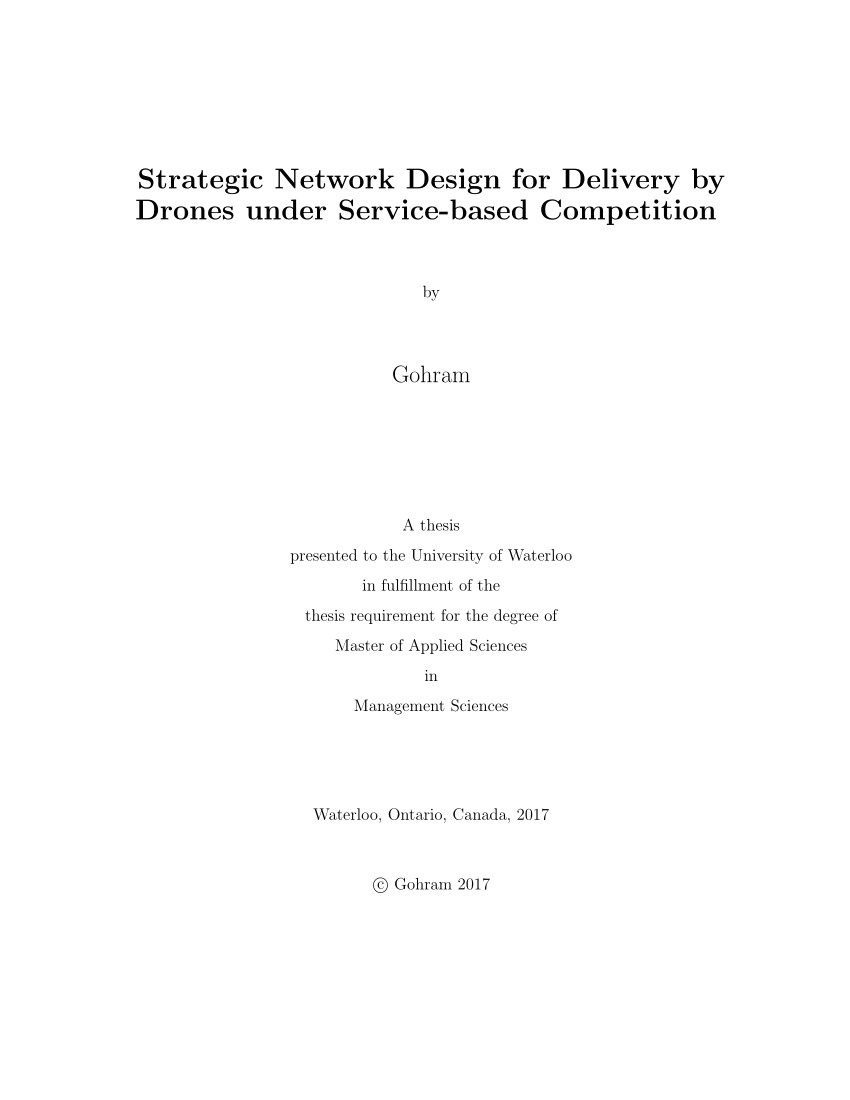 pdf strategic network design for delivery by drones under service based competition