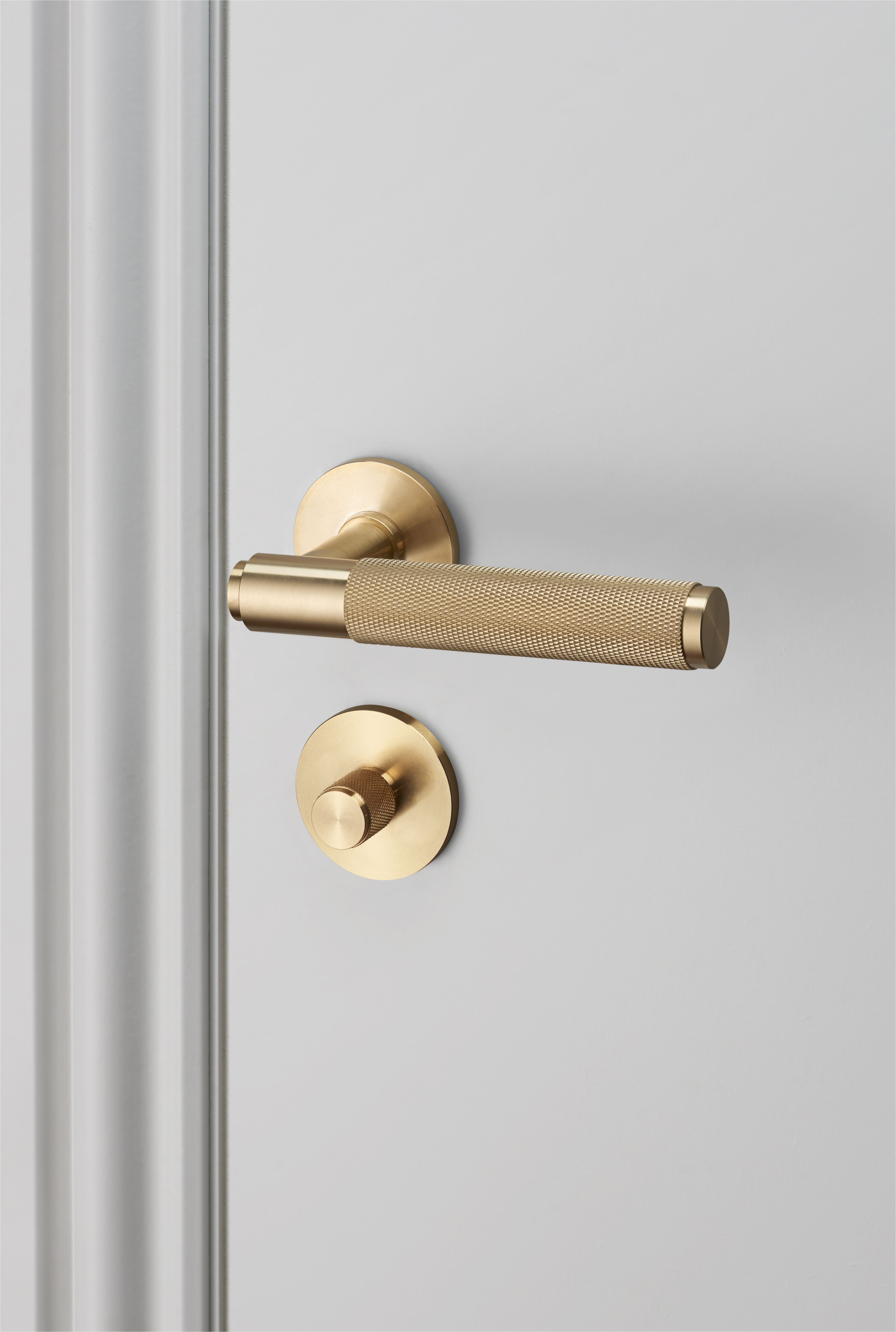 door lever handle brass and thumbturn lock brass by buster punch