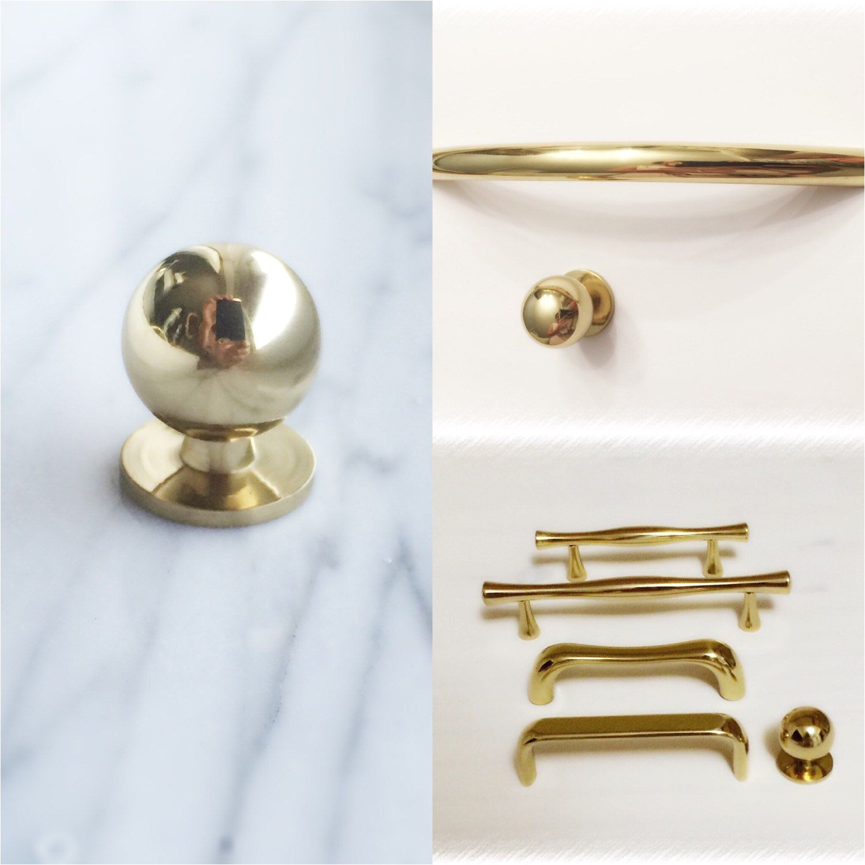 polished brass hardware from forgehardwarestudio etsy com starting at 5 99
