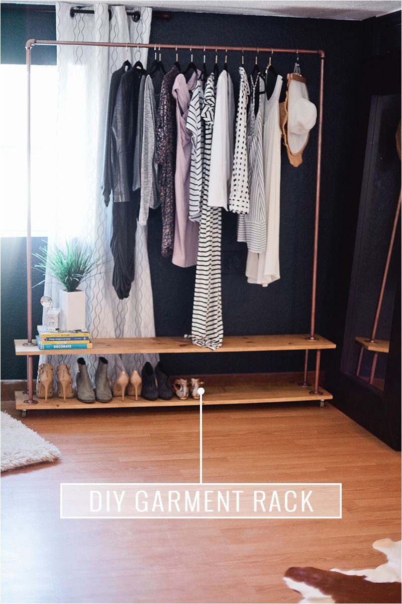 rolling diy garment rack get the full simple and easy tutorial to make your own wardrobe rack
