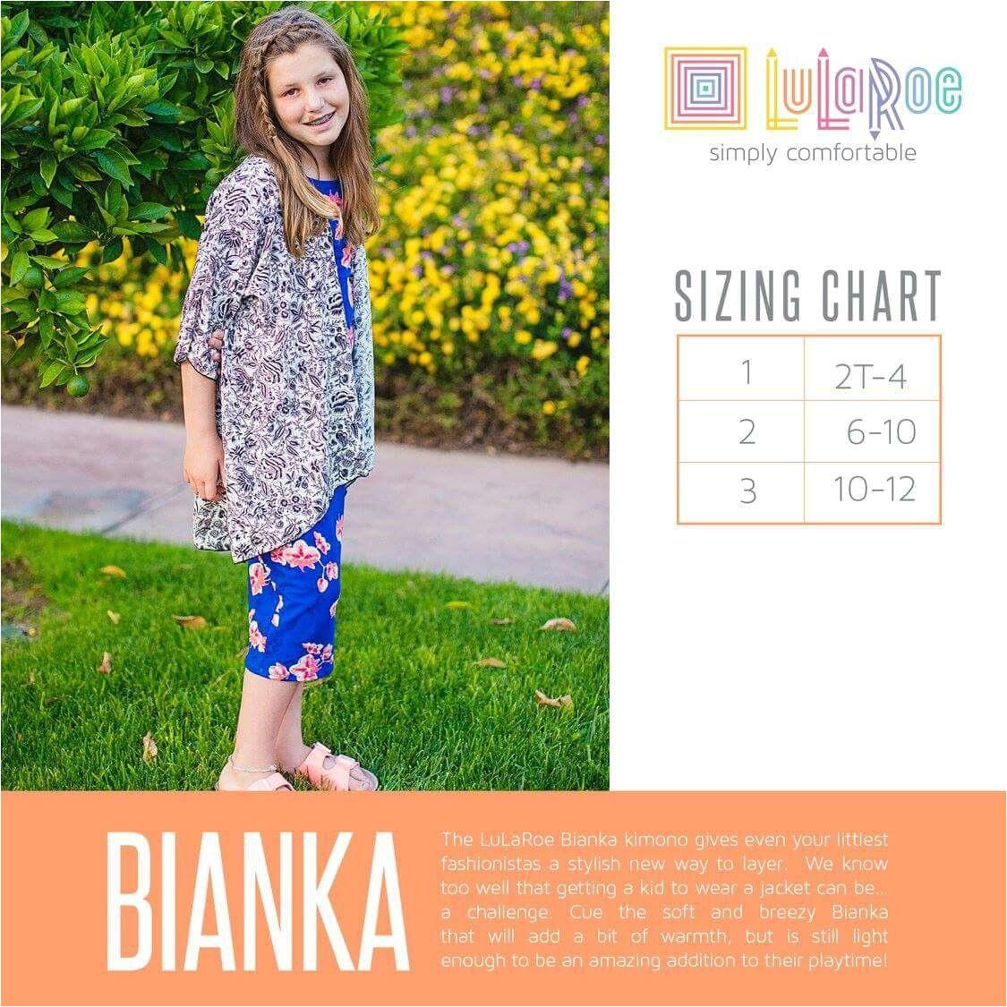 lularoe bianka size chart shop the lularoe kids collection now with shanel https