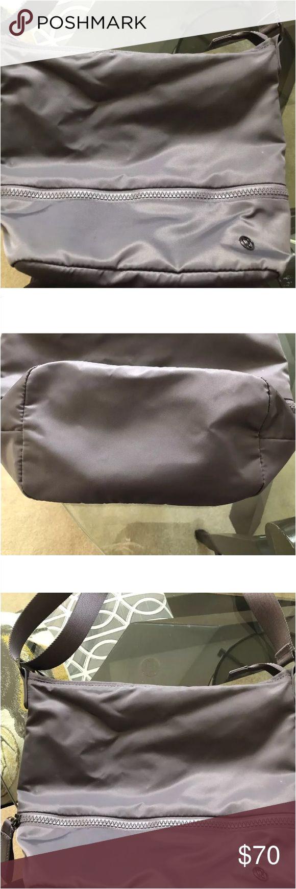 lululemon go lightly shoulder bag go lightly shoulder bag magnum light purple excellent used condition smoke free home fabric is water repellent durable