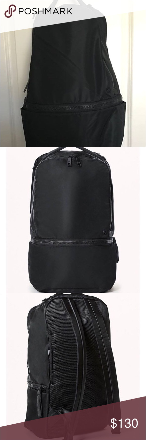 lululemon go lightly 24l backpack never used expandable bottom pocket quick access phone