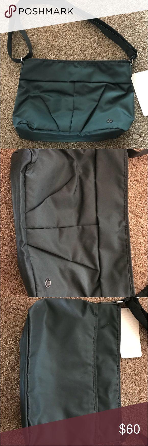 lululemon city adventure shoulder bag teal shadow brand new with tags teal shadow lululemon city adventure