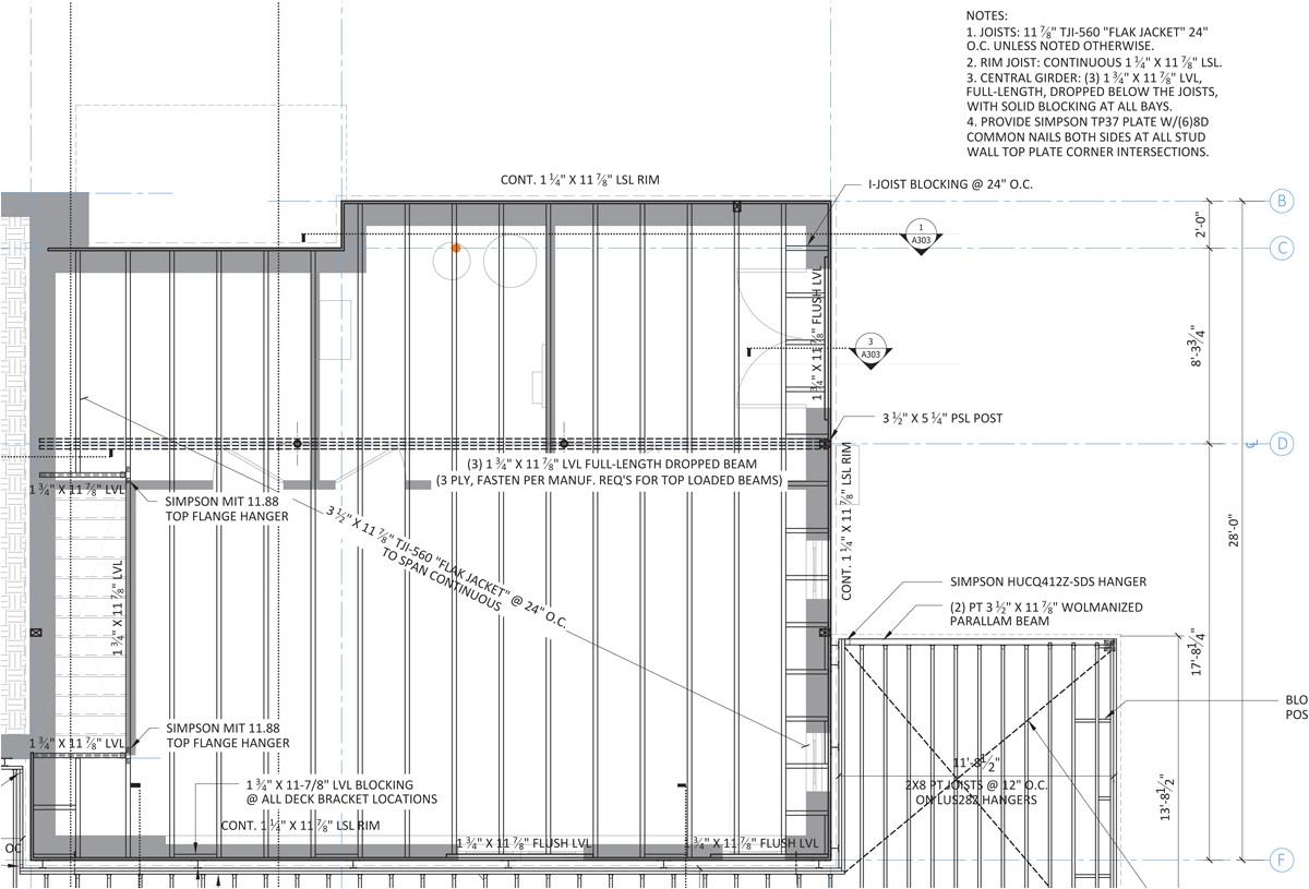 Lvl Beam Span Chart Floor Framing Design Fine Homebuilding
