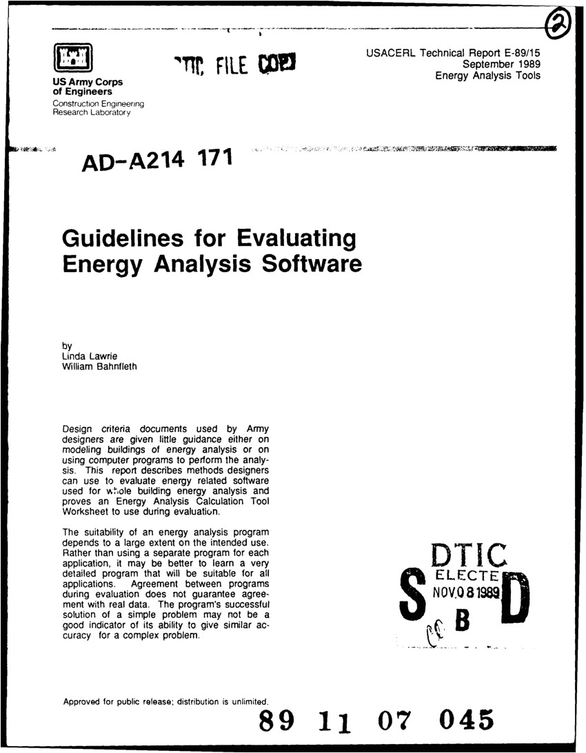pdf guidelines for evaluating energy analysis software