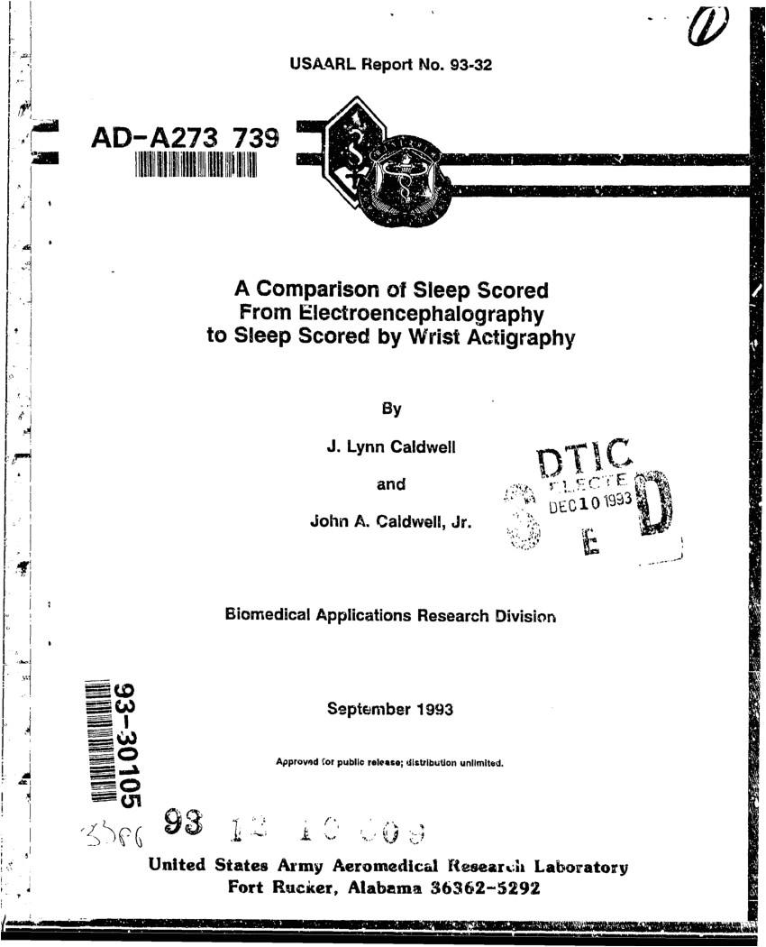 pdf a comparison of sleep scored from electroencephalography to sleep scored by wrist actigraphy
