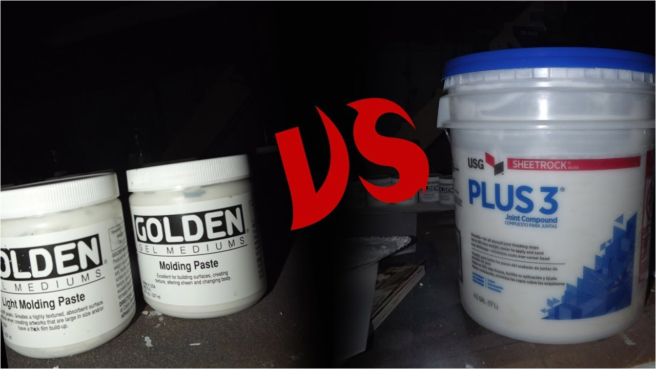 Make Your Own Pouring Medium Using Joint Compound as Molding Paste Youtube