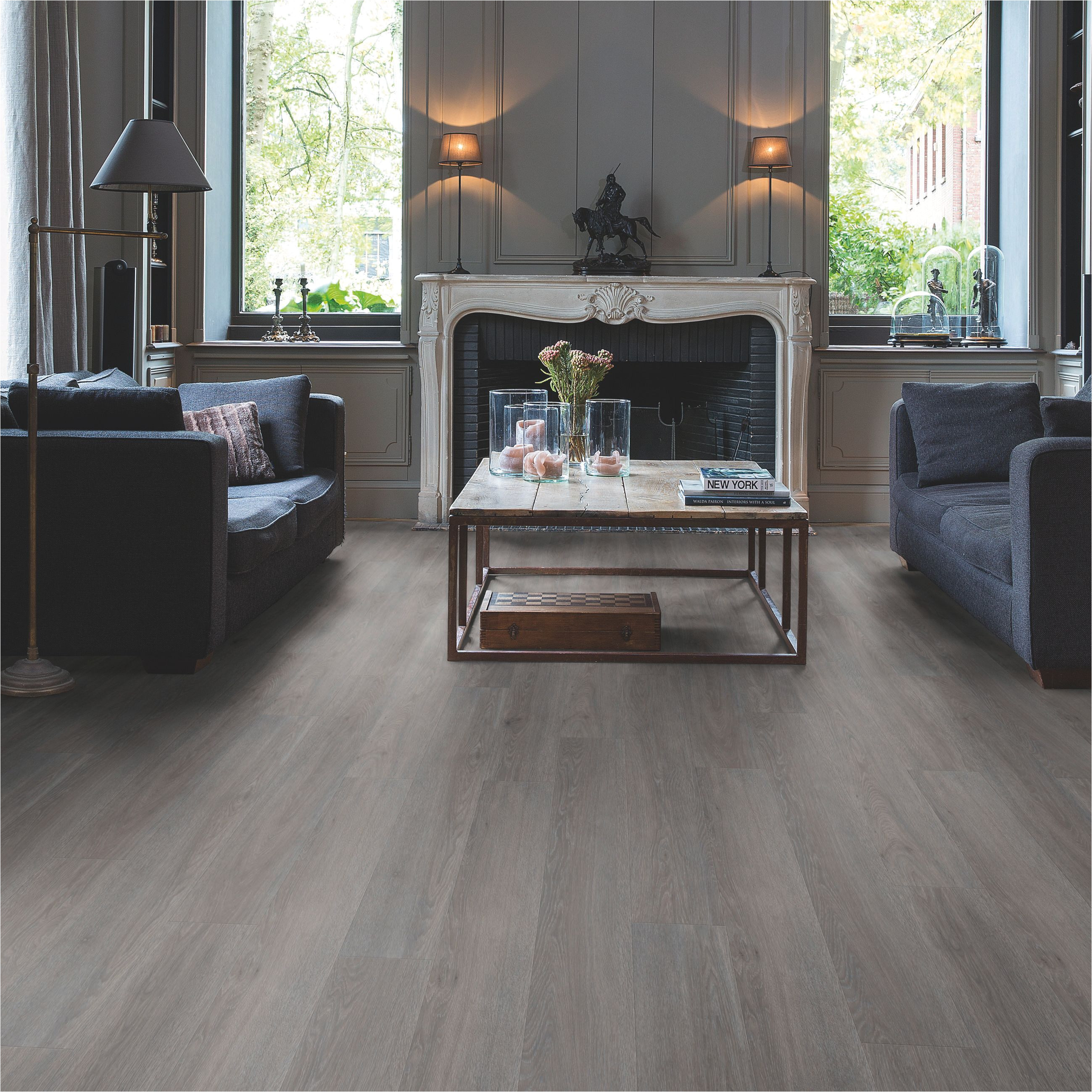 paso dark grey oak effect waterproof luxury vinyl flooring tile 2 105 ma pack departments diy at b q