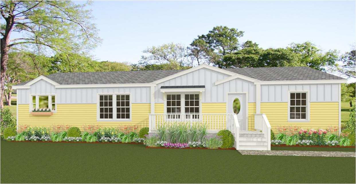 rendering 3 bedroom home with 2 dormers