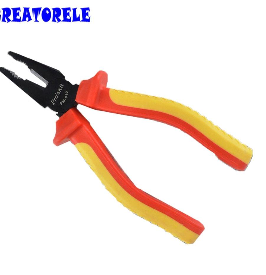pm 912 mini tipo multifuncional dureza cromo vanadio alicates electricista alicates herramientas para cortar cobre hierro alambres