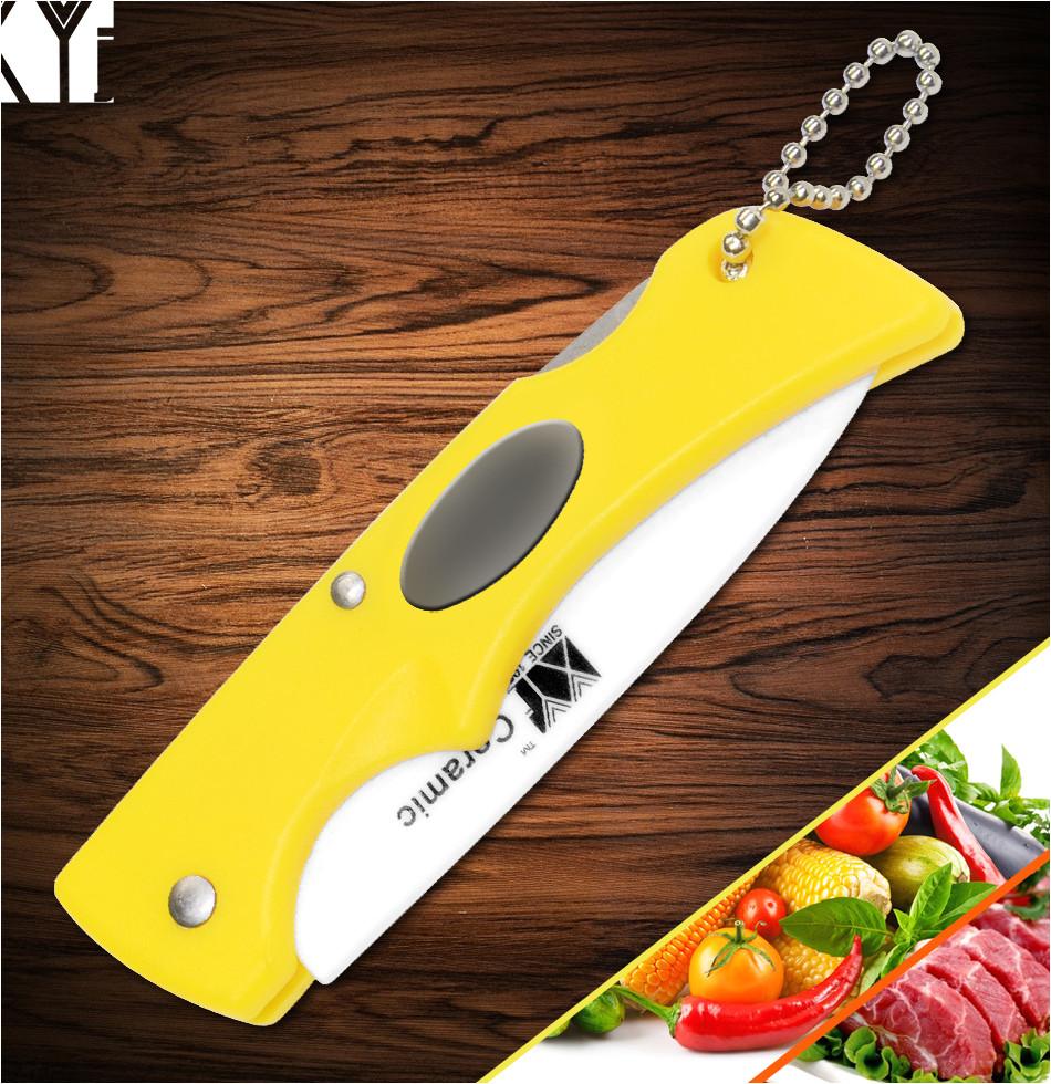 xyj marca plegable de ceramica cuchillos para uso general sharp cuchillo de cocina al aire libre pequea o cuchillo de bolsillo cocina accesorios para frutas