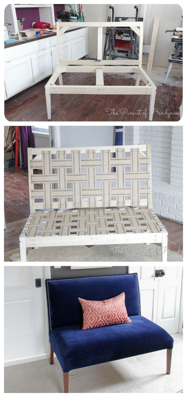 ana white diy upholstered settee diy projects