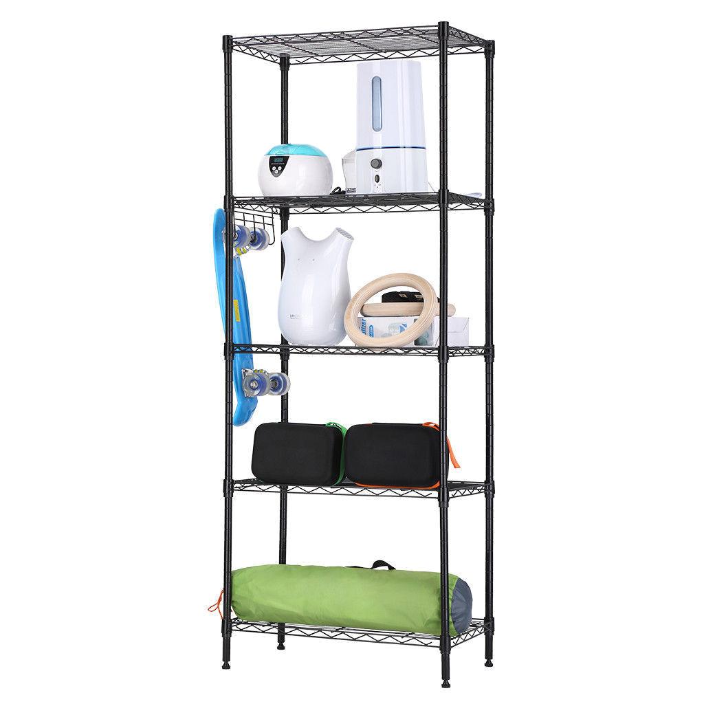zimtown wire shelving 5 tier metal storage rack shelf 5 shelf shelves unit kitchen walmart com