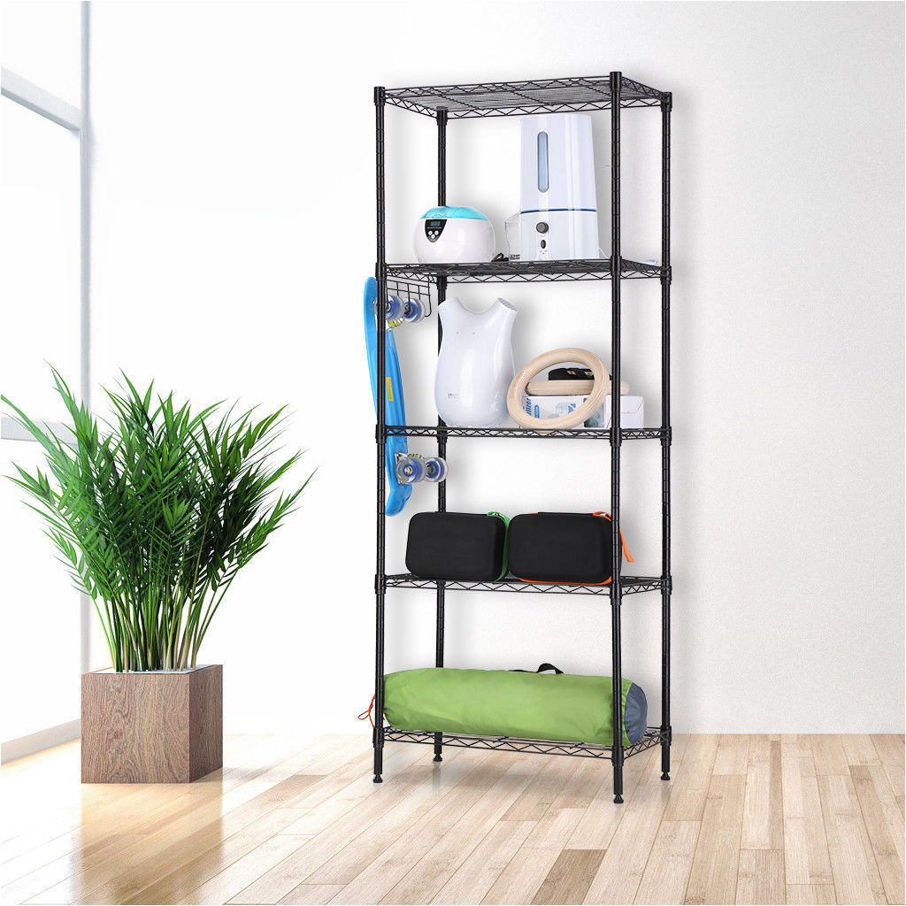 zimtown wire shelving 5 tier metal storage rack shelf 5 shelf shelves unit kitchen walmart com
