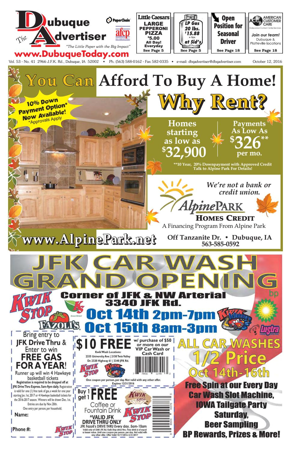 Midwest Rug Co Springfield Mo the Dubuque Advertiser October 12 2016 by the Dubuque Advertiser