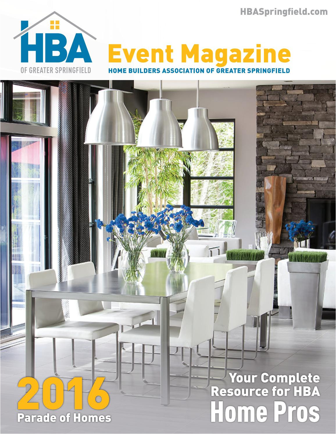 hba event magazine 2016 parade edition by home builders association of greater springfield issuu