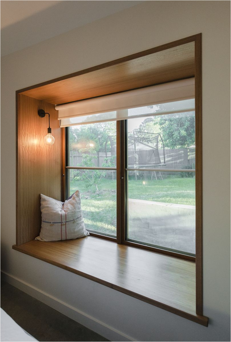 blackbutt timber window seat and sashless window by against the grain windows doors the