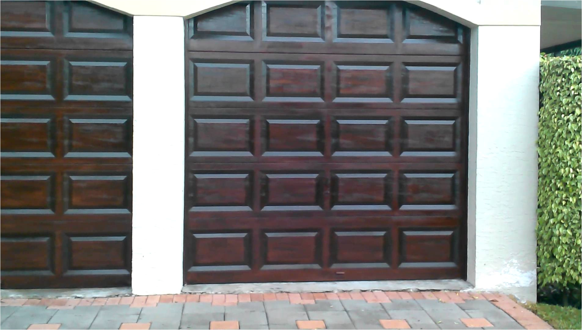awesome garage door finish with java gel stain for exterior design ideas