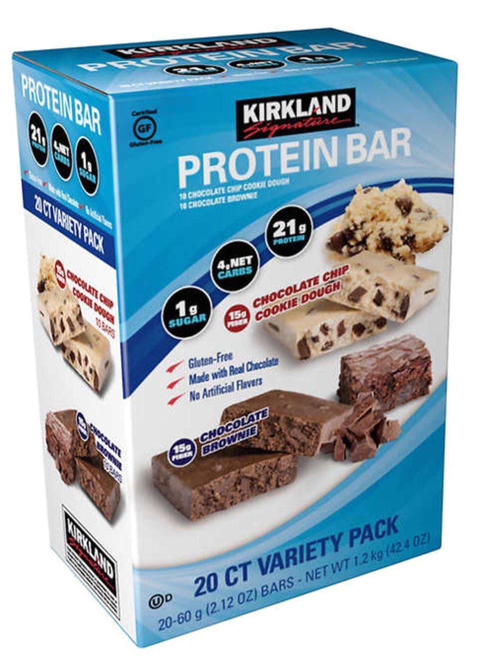 amazon com kirkland signature protein bar energy variety pack vmvbtn 2pack 40 count home kitchen