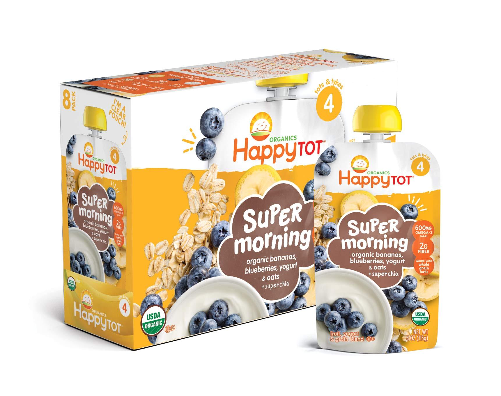 happy tot organic stage 4 super morning organic bananas blueberries yogurt oats super chia