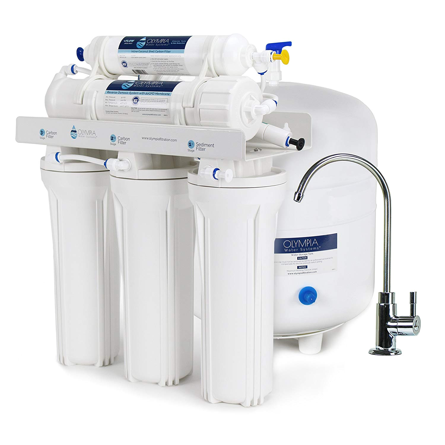 olympia water systems oros 80 5 stage reverse osmosis water filtration system with 80gpd membrane nsf certified amazon com