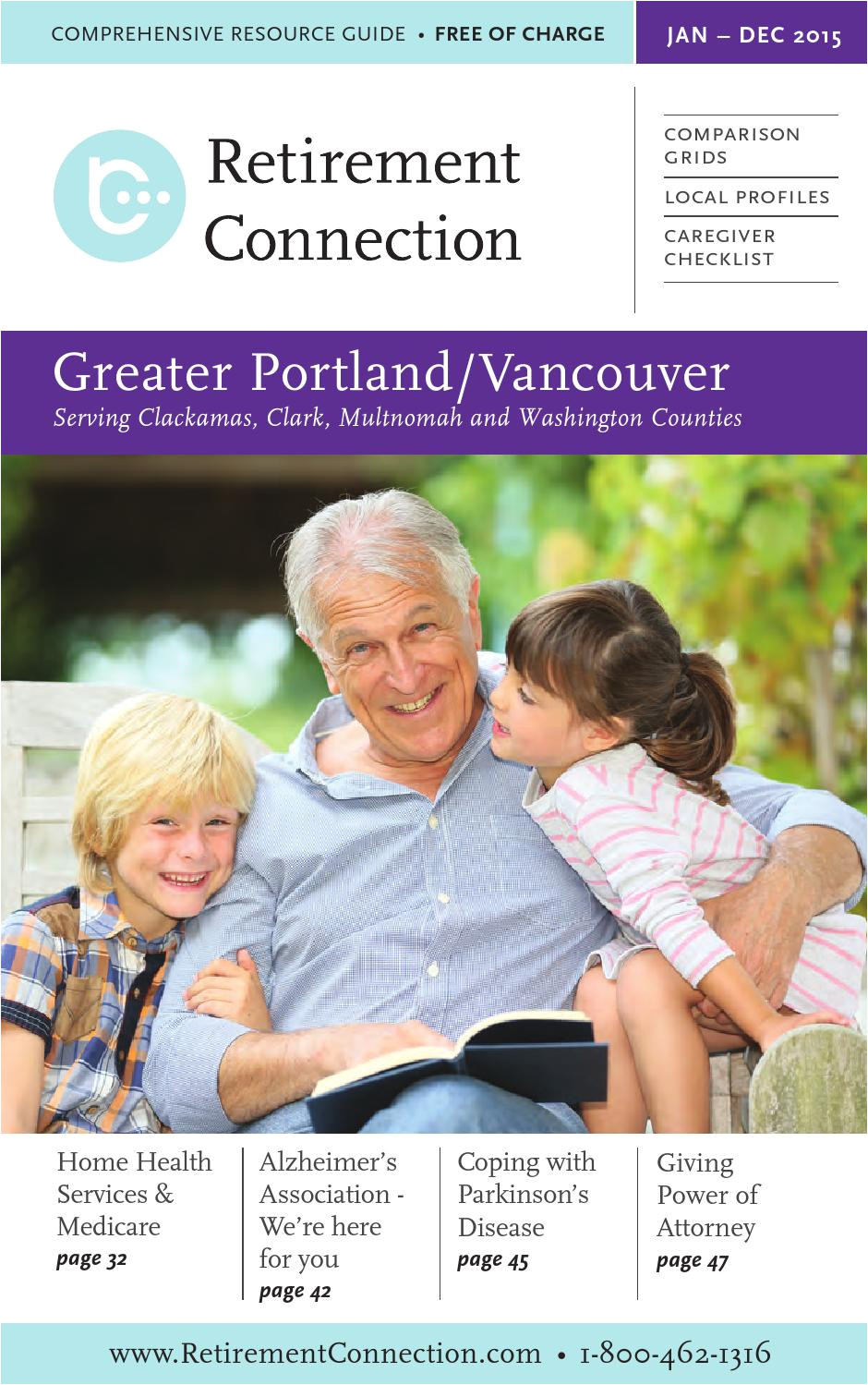 january 2015 retirement connection guide portland vancouver by retirement connection issuu