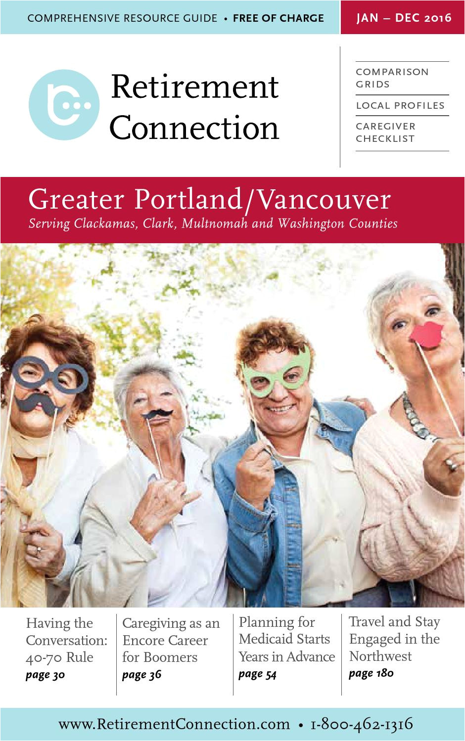 january 2016 retirement connection guide portland web by retirement connection issuu