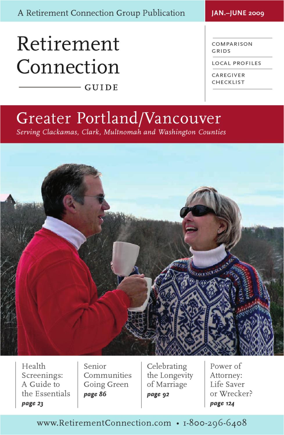 retirement connection guide greater portland vancouver january june 2009 by retirement connection issuu