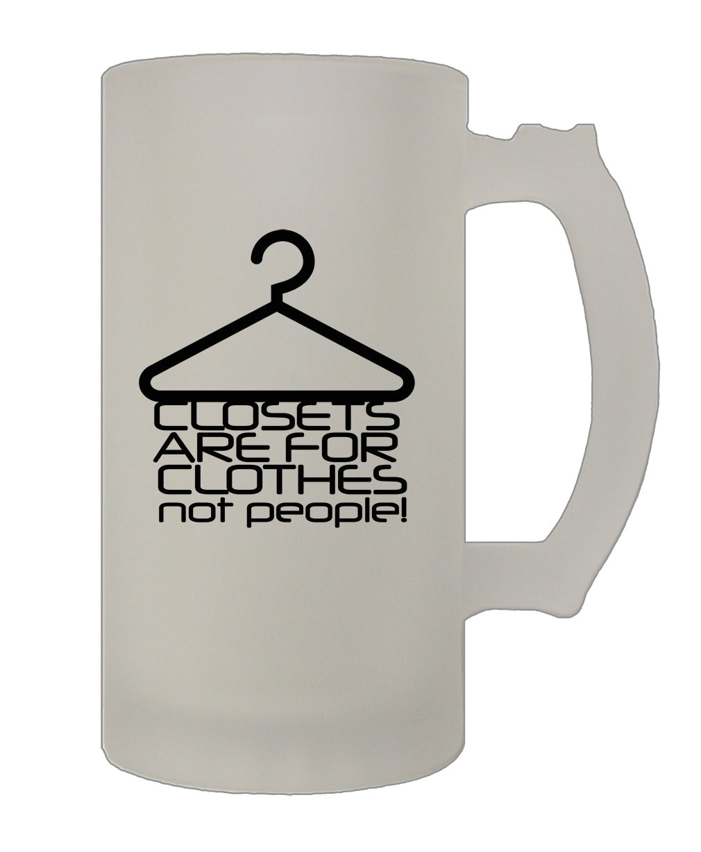 amazon com style in print closest are for clothes not people funny holidays 16 oz glass stein beer mug kitchen dining