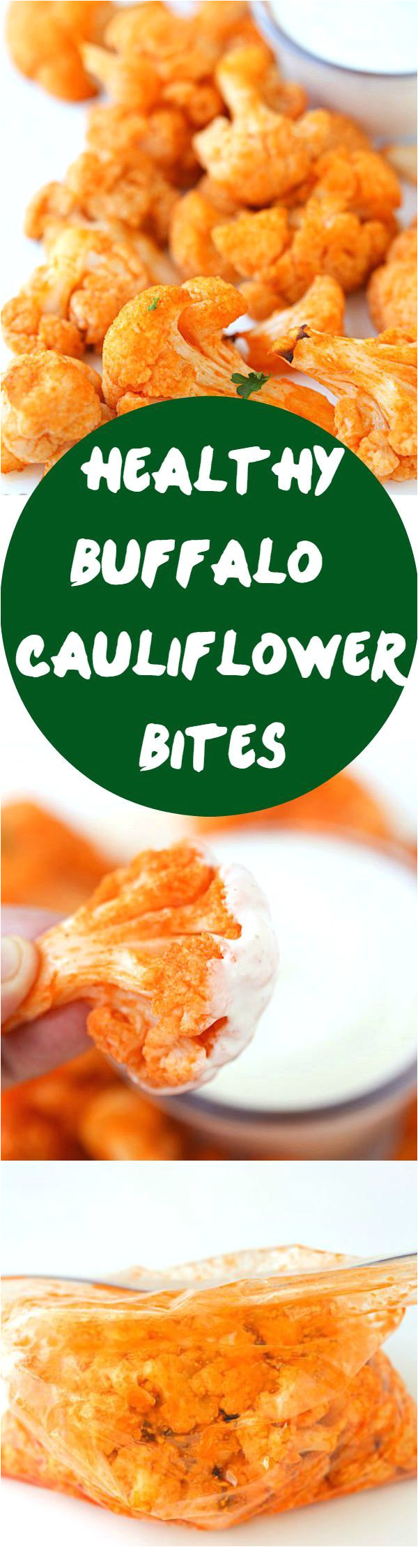 healthy buffalo cauliflower bites