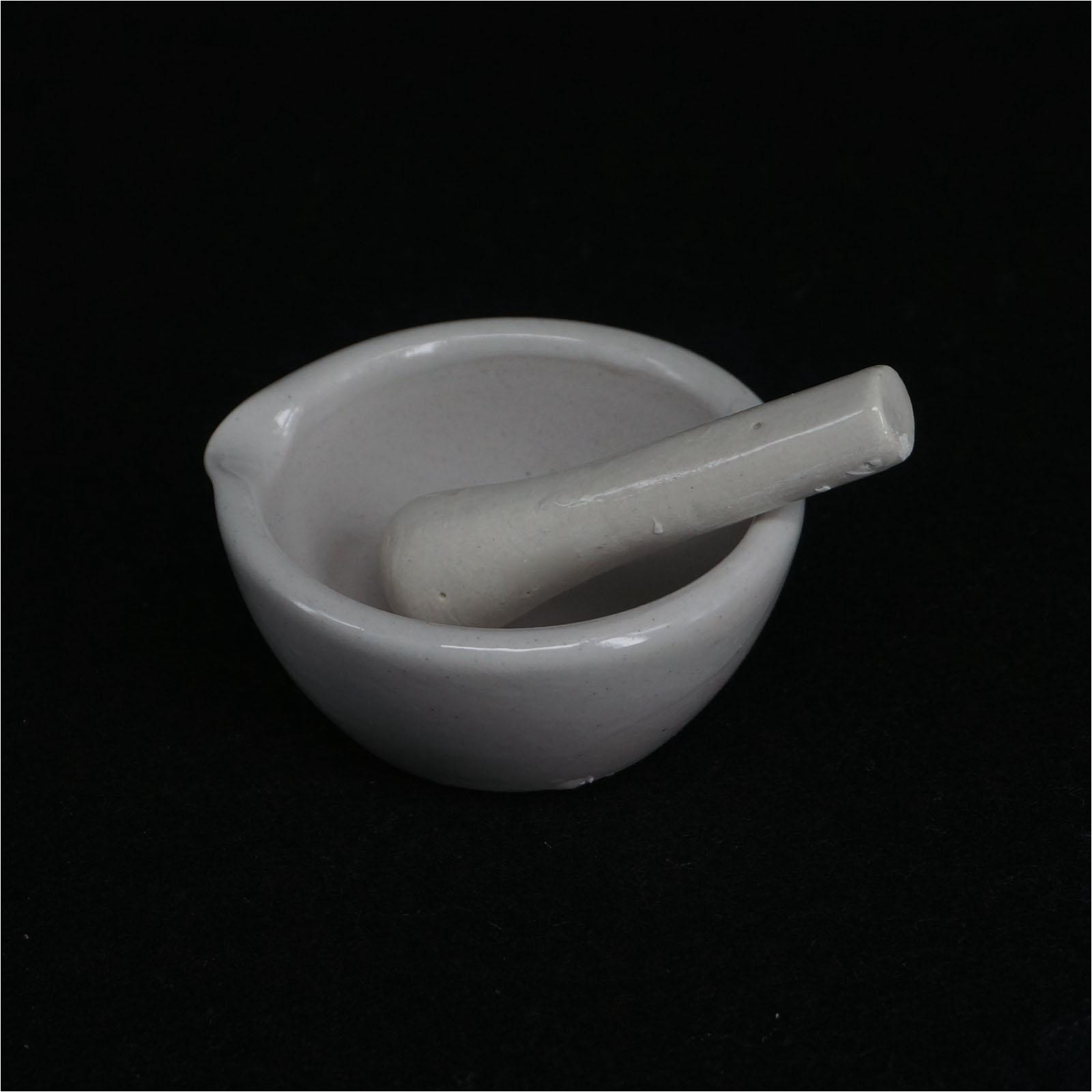 80mm ceramic porcelain mortar and pestle mix grind bowl set herbs kitchen