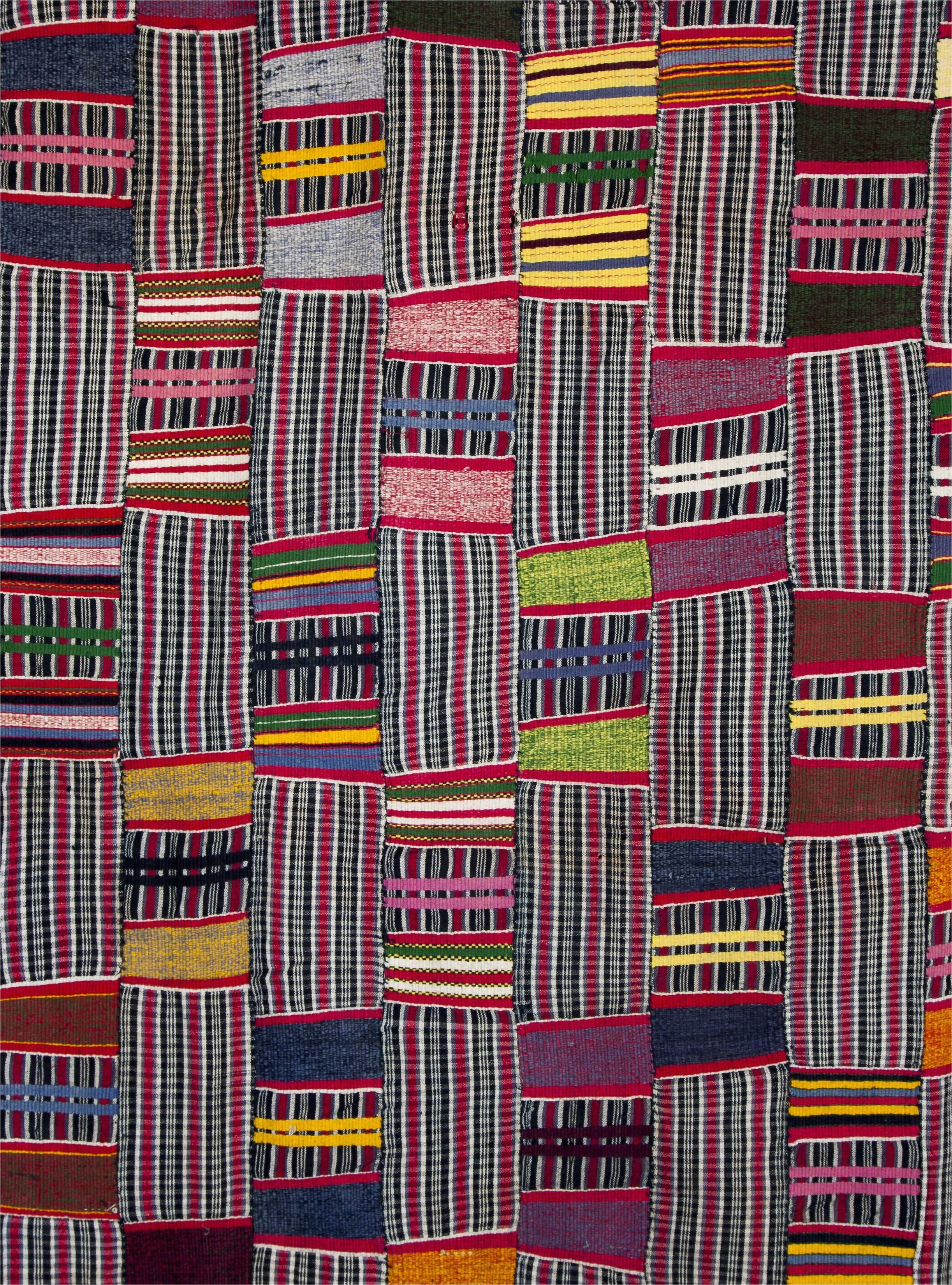 africa details from a strip woven cloth from the ewe people of togo cotton locally woven and dyed