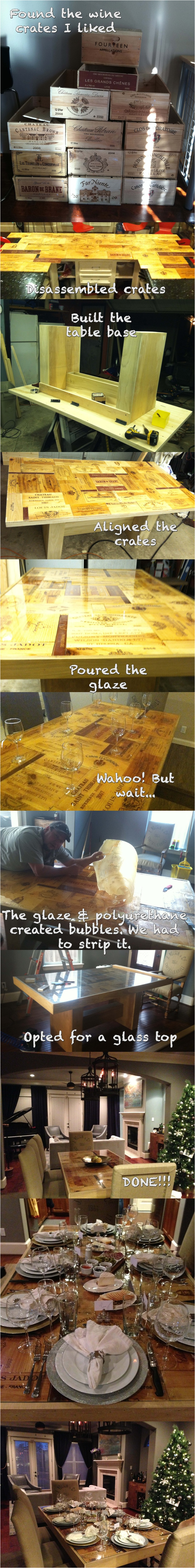 my wine crate table with the help of teddy lett let s fix it workshops