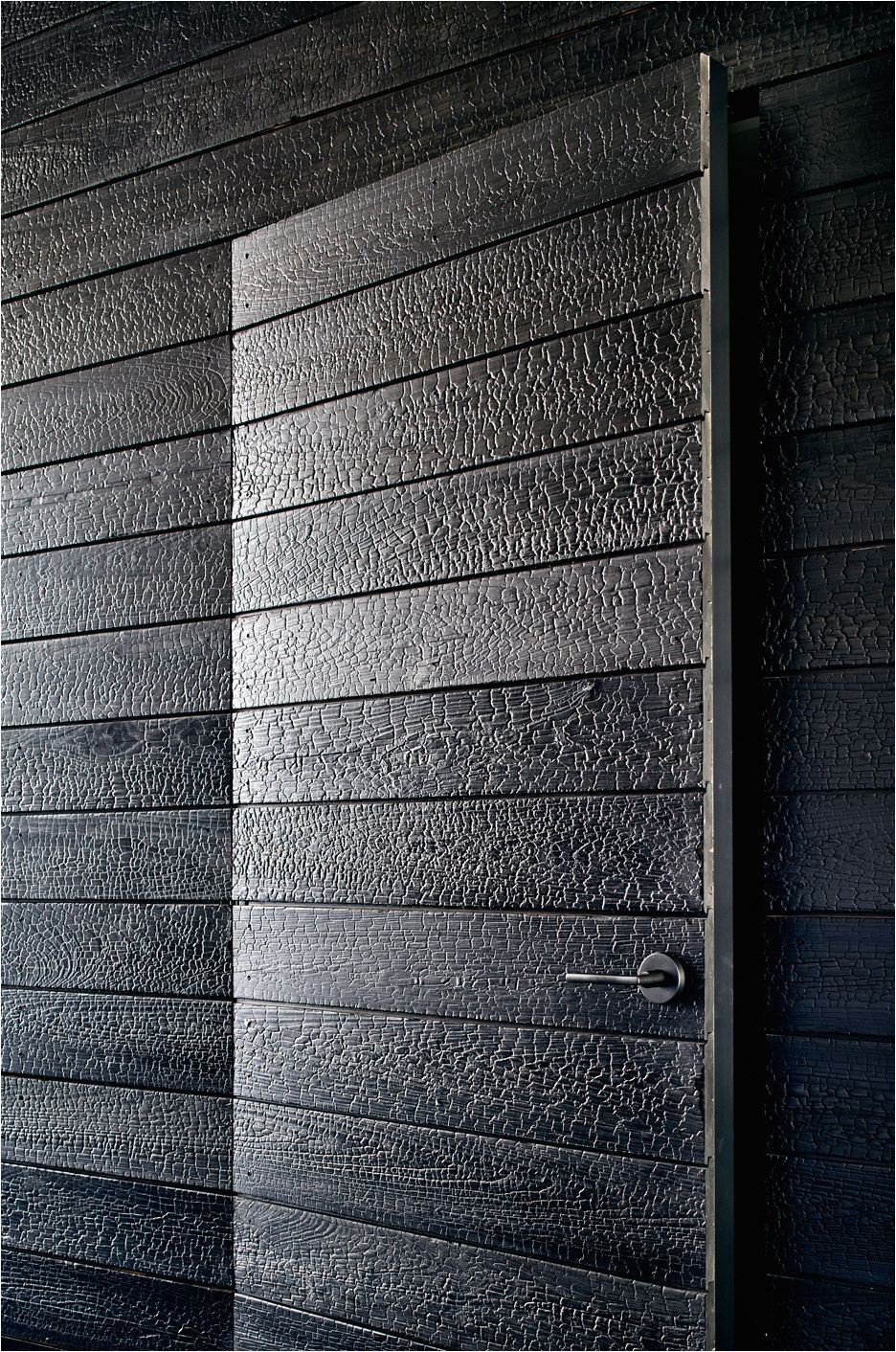 beautiful burnt cedar shou sugi ban panels in austin tx home by aamodt