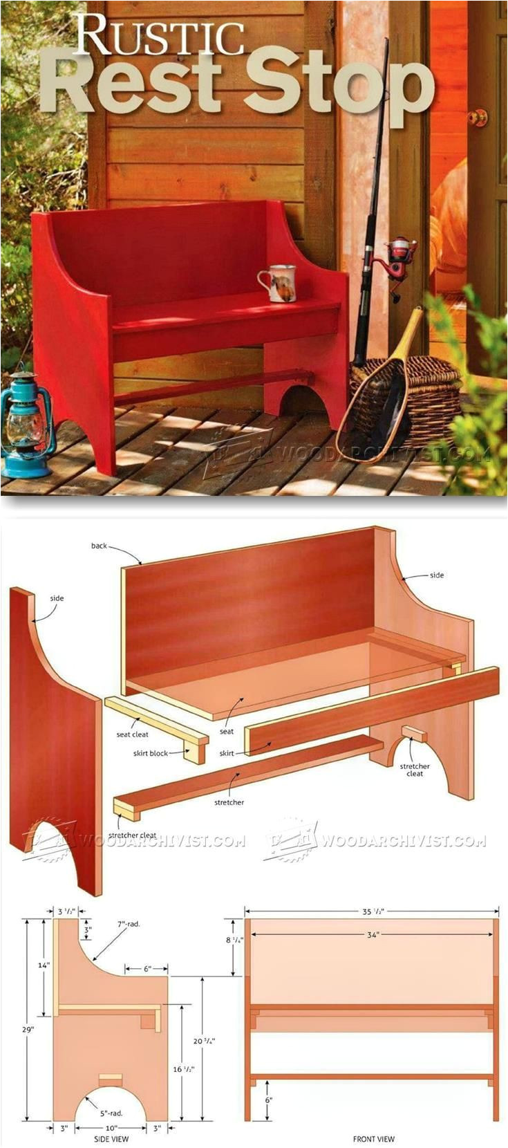 rustic bench plans outdoor furniture plans and projects woodarchivist com