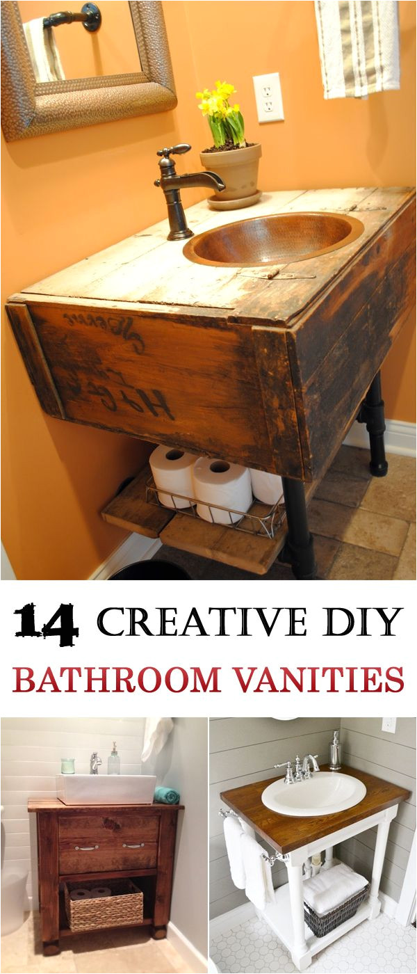 Muebles Rusticos En Dallas Texas 14 Creative Diy Bathroom Vanities Western Decor Pinterest