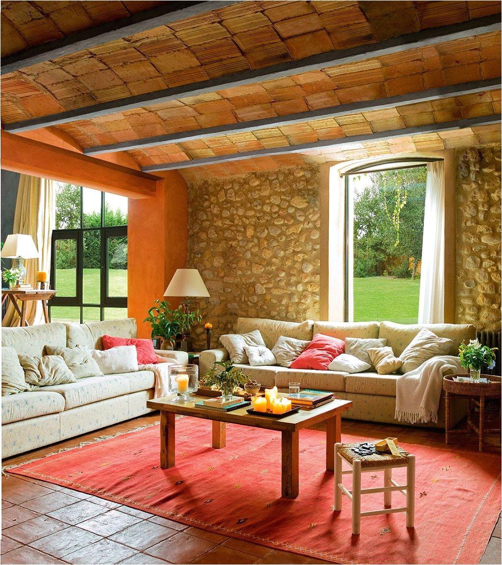 salon rustico40 acogedor interiores de casa casas de madera casas raosticas muebles