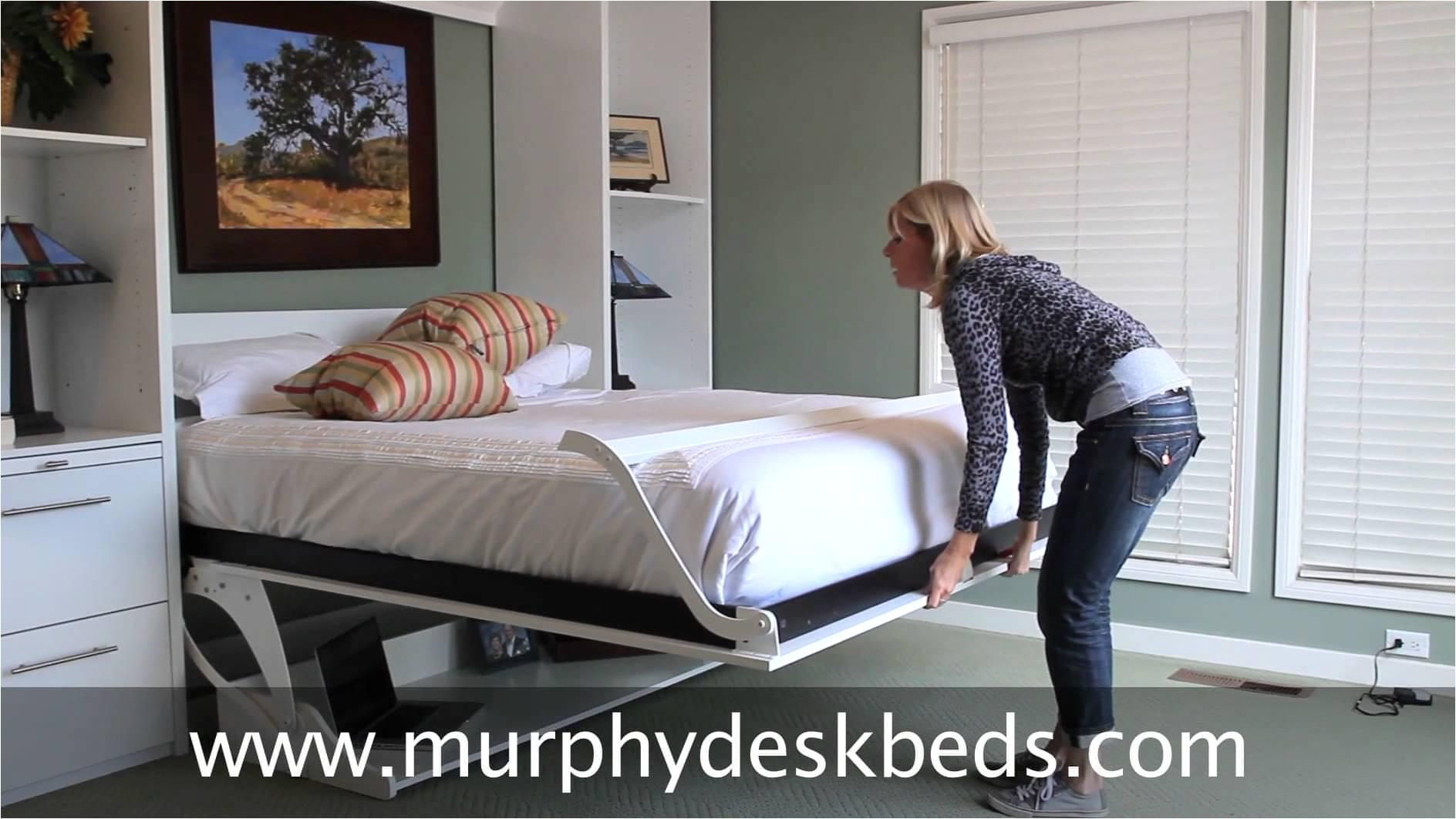 mattress baby beautiful queen murphy truett fabulous inspiring deskbeds vertical white with modern office desk trends and furniture