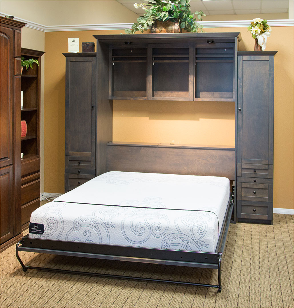 san diego wall beds and murphy wilding wallbeds mission alder driftwood open queen size mattress wood