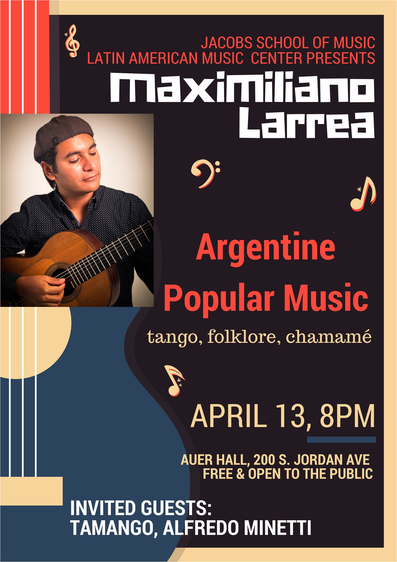 friday april 13th 8 00pm with tamango concert for maxi larrea jacobs school of music latin american center indiana university bloomington in