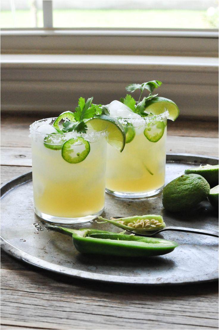 fresh lime jalapeno margarita