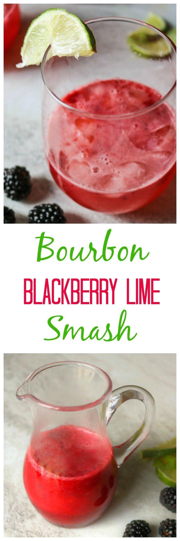bourbon blackberry lime smash